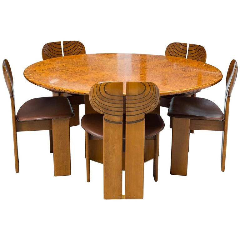Africa Dining Suite, Afra & Tobia Scarpa, Maxalto, Italy, 1970s-1980s For Sale