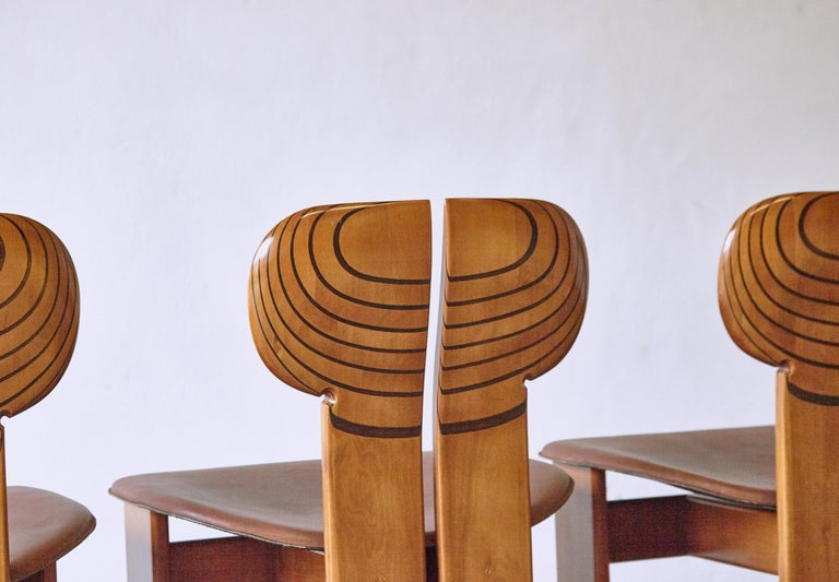 Africa Dining Suite, Afra & Tobia Scarpa, Maxalto, Italy, 1970s-1980s For Sale 4