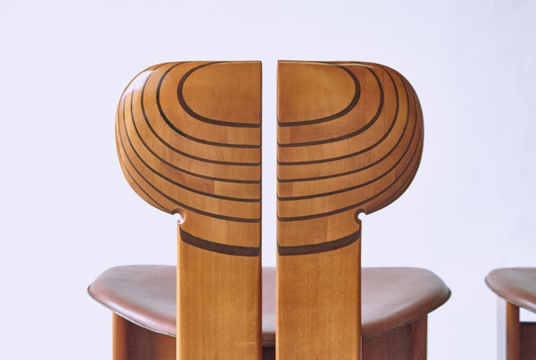 Africa Dining Suite, Afra & Tobia Scarpa, Maxalto, Italy, 1970s-1980s For Sale 1