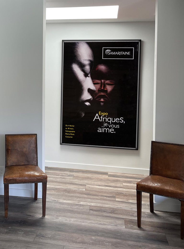 Late 20th Century Africa, Original Poster from Samaritaine Exhibition Paris For Sale