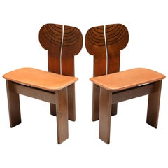 Africa Pair of Chairs by Afra and Tobia Scarpa
