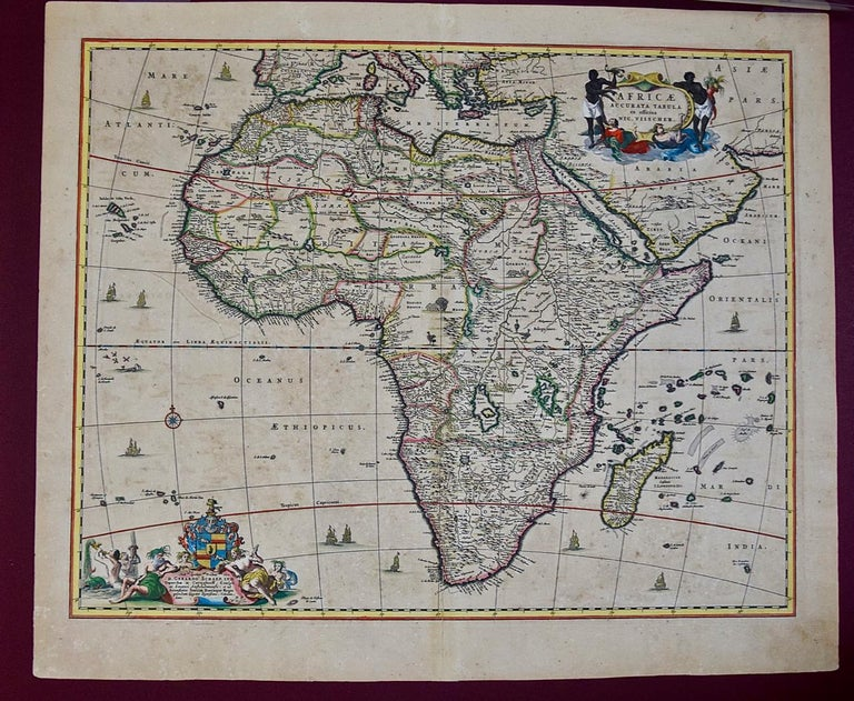 An 18th century hand-colored map of Africa entitled