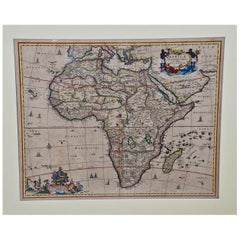 """Africae Accurata"", a Hand-Colored 17th Century Map of Africa by Visscher"