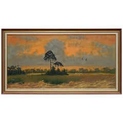 African America Artist Alfred Hair Founder of the Highwaymen Sunset, Florida