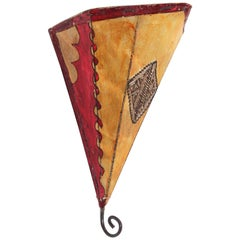 African Art Wall Parchment Sconce