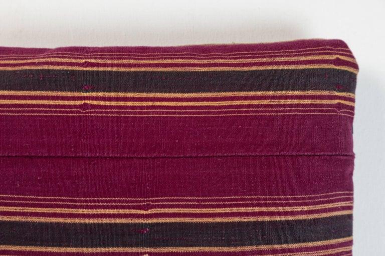 Nigerian African Ashante Stripe Pillow For Sale