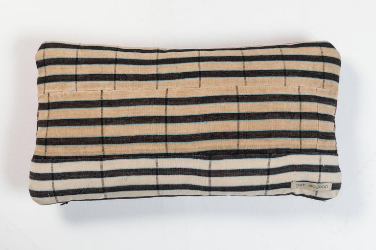 Woven African Ashante Stripe Pillow For Sale
