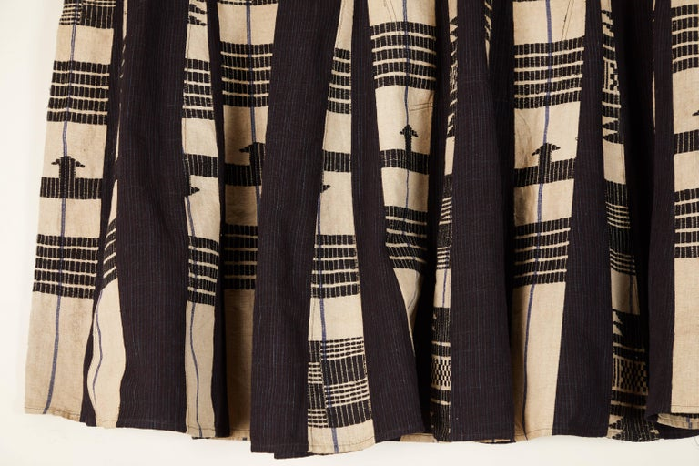 African Aso Oke Men's Tunic, Nigeria In Good Condition For Sale In Los Angeles, CA