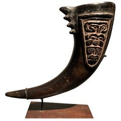 African Bamileke Cameroon Decorated Drinking Vessel