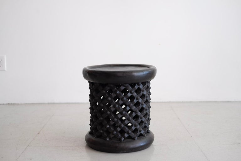 African Bamileke Spider Stools In Good Condition For Sale In Los Angeles, CA