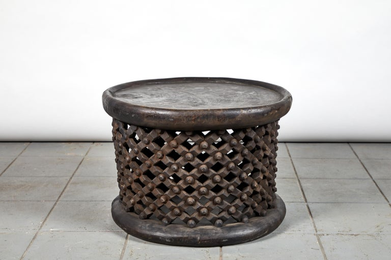 Wood African Bamileke Table, 20th Century For Sale