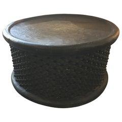 African Bamileke Wood Table