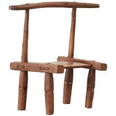 African Baoulé Chair, Ivory Coast, Mid-20th Century