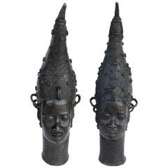 African Benin Bronzes of Queen Edo the Iyoba 'Nigeria', Monumental, circa 1950