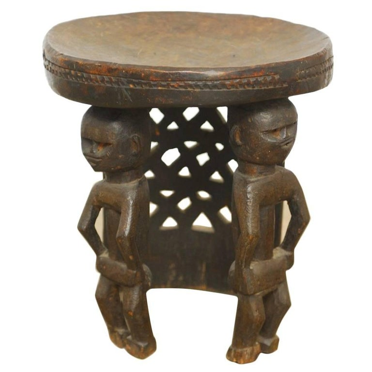 Ethiopian Hand Carved Chair At 1stdibs
