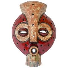 Afrikanische Stammes-Maske aus dem Kongo, Keramik