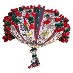African Ceremonial Beaded Umbrella