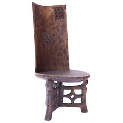 African Ceremonial/ Chief's Carved Throne Chair Tanzania, circa 1900