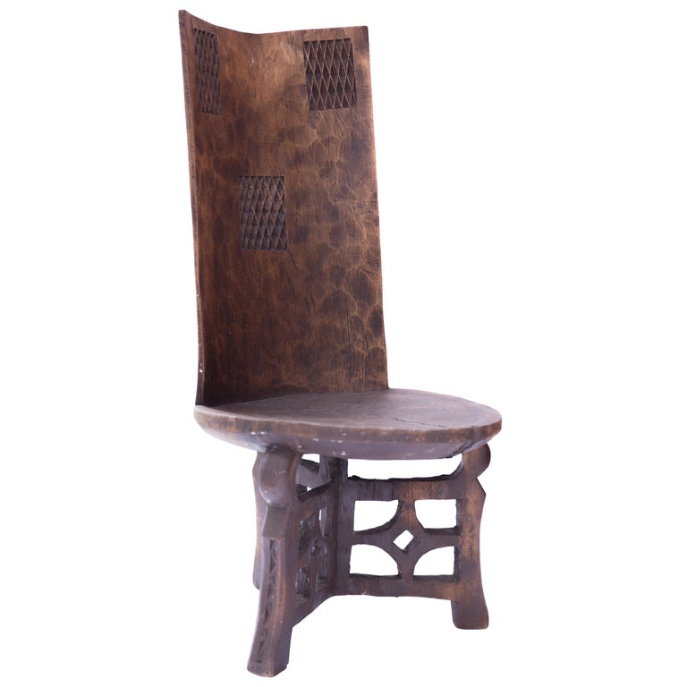 Magnificent African Ceremonial Chiefs Carved Throne Chair Tanzania Circa 1900 Beutiful Home Inspiration Ommitmahrainfo