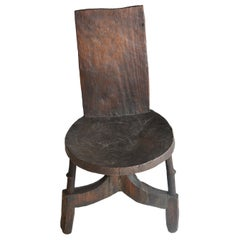 African Chieftain Chair from Oromo People in Ethiopia, circa Early 1900s