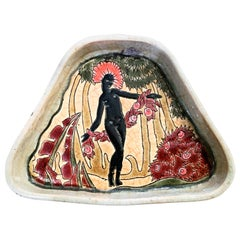 """African Dancer,"" Brilliant Art Deco Vanity Tray Inspired by Josephine Baker"