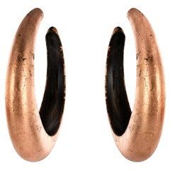 African Ebony Copper Hoops Earrings