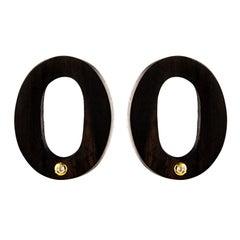 African Ebony Diamond Earrings