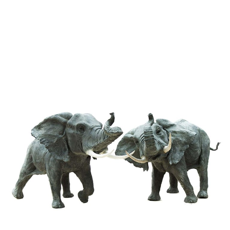 Italian African Elephant Sculpture by Vincenzo Romanelli For Sale