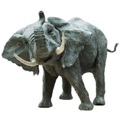 African Elephant Sculpture by Vincenzo Romanelli