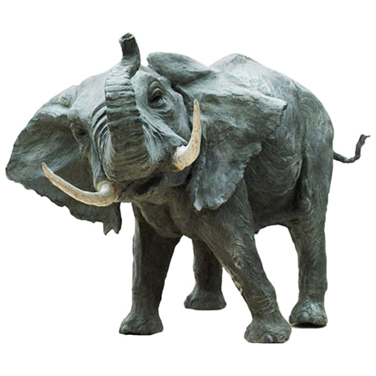 African Elephant Sculpture by Vincenzo Romanelli For Sale