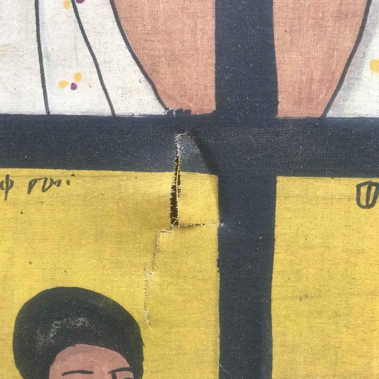 African Ethiopian Tribal Folk Art Painting 20th Century For Sale 7