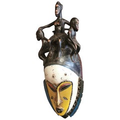 African Gouro Guru Tribal Mask