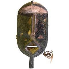 African Gurunsi Burkina Faso Wood Carved Mask