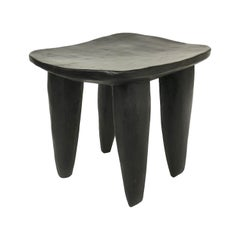 African Hand Carved Senufo Stool from Cote d'Ivoire