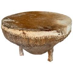African Hide Drum Table