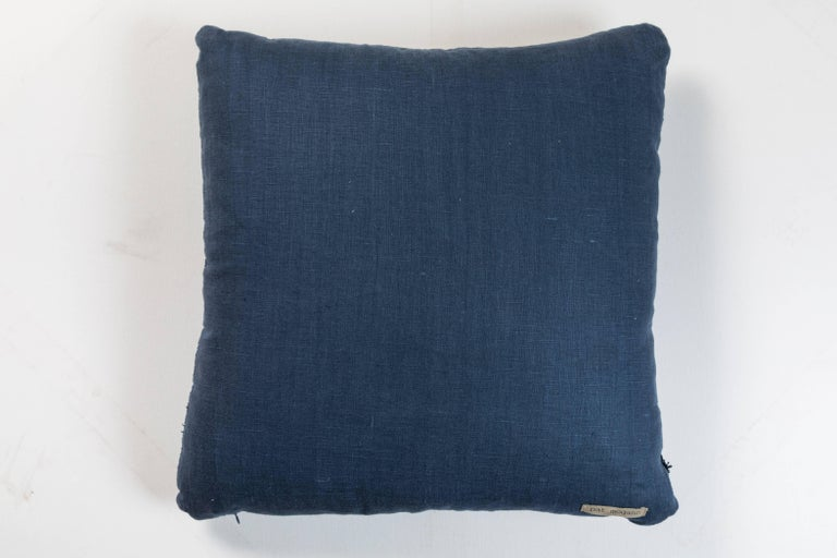 African Indigo Ashante Pillow  In Good Condition For Sale In Los Angeles, CA