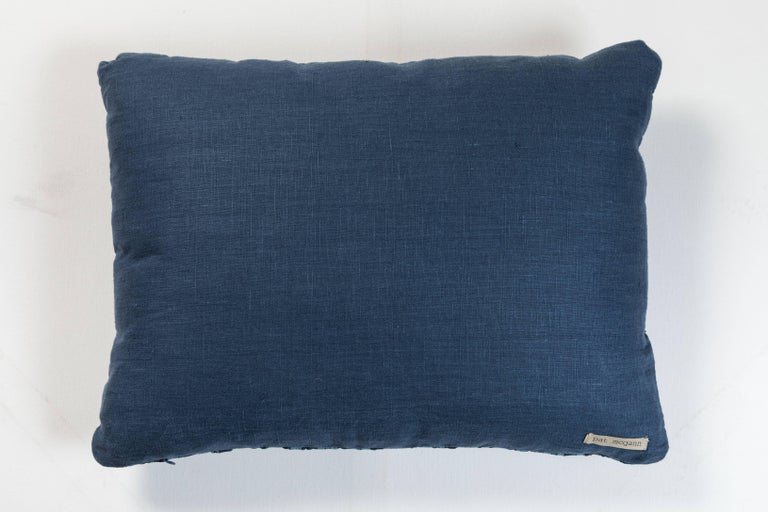 Hand-Woven African Indigo Ashante Pillow  For Sale