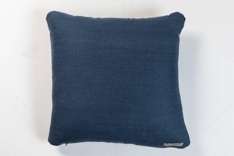 Hand-Woven African Indigo Ashante Pillow  For Sale