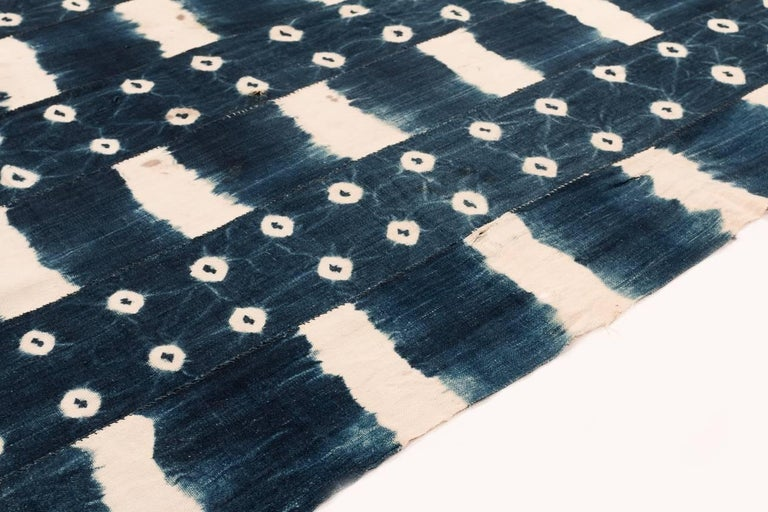 Tribal African Indigo Dyed Textile For Sale