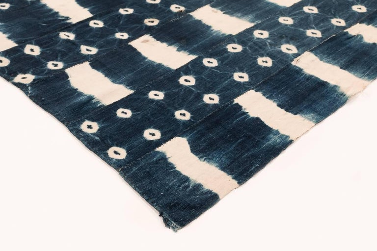 Burkinabe African Indigo Dyed Textile For Sale