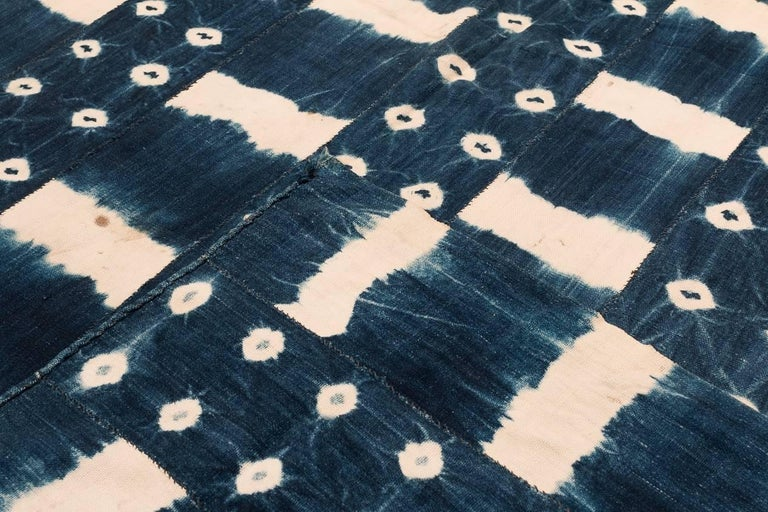 Vegetable Dyed African Indigo Dyed Textile For Sale