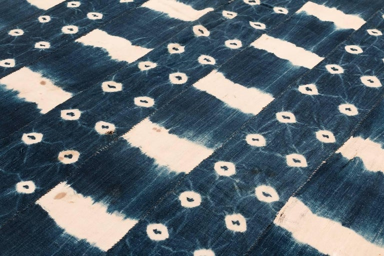 African Indigo Dyed Textile In Good Condition For Sale In New York, NY