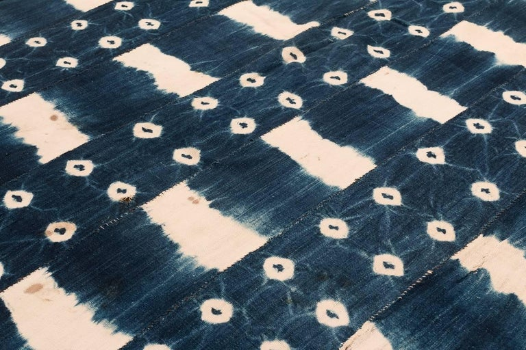 Late 20th Century African Indigo Dyed Textile For Sale