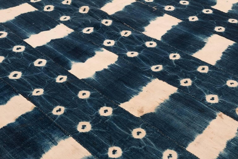 Cotton African Indigo Dyed Textile For Sale