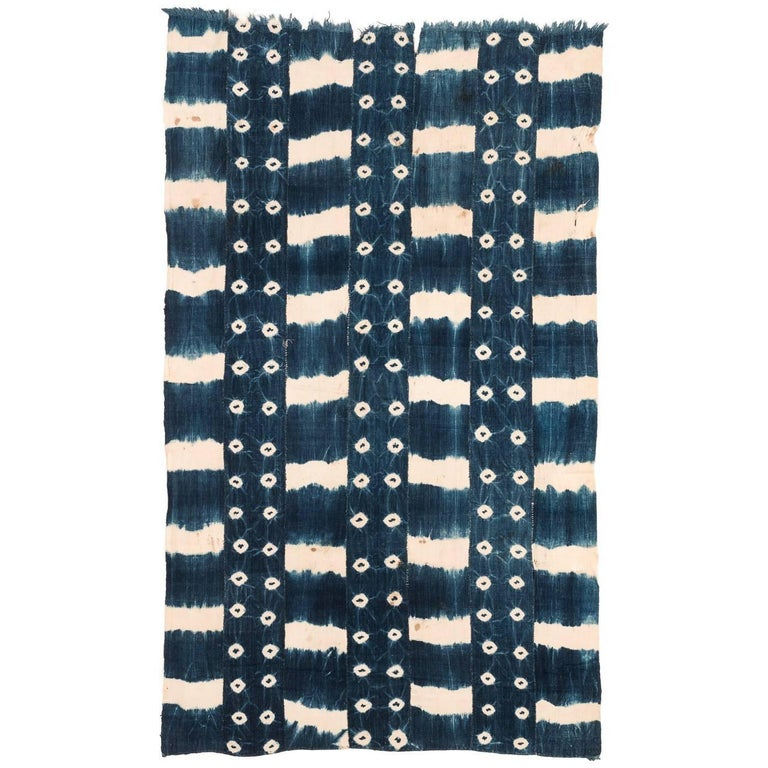 African Indigo Dyed Textile For Sale