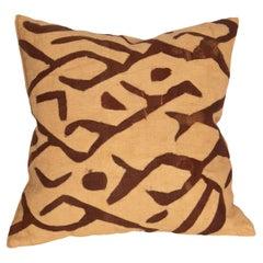 African Kuba Cloth Raffia Pillow Case