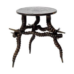 African Kudu Horn Side Table