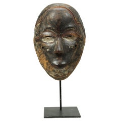 African Kwese Wood Mask, Ex Irwin Hersey, Congo, Africa, Early 20th Century