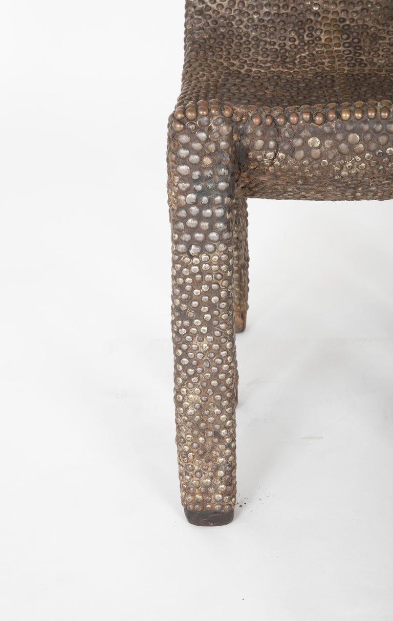 19th Century African Ngombe Studded Chair For Sale