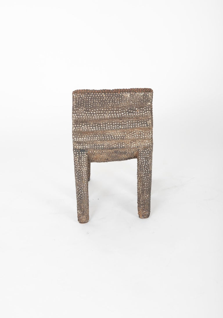 African Ngombe Studded Chair For Sale 2